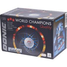 Мячи для н/т DONIC 3*** 40+, пластик, белые, 120 шт
