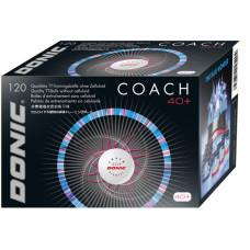 Мячи для н/т Donic Coach 40+ пластик бел, 120 шт.