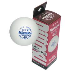 Мячи для н/т NITTAKU Premium 3*** белые, 3 шт