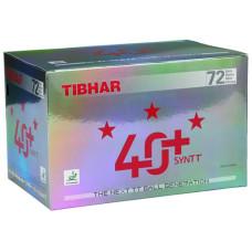 Мячи для н/т Tibhar 3*** 40+ SYNTT , пластик, бел.72 шт