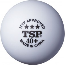 Мячи для н/т TSP 3*** 40+ , пластик, бел. 3 шт